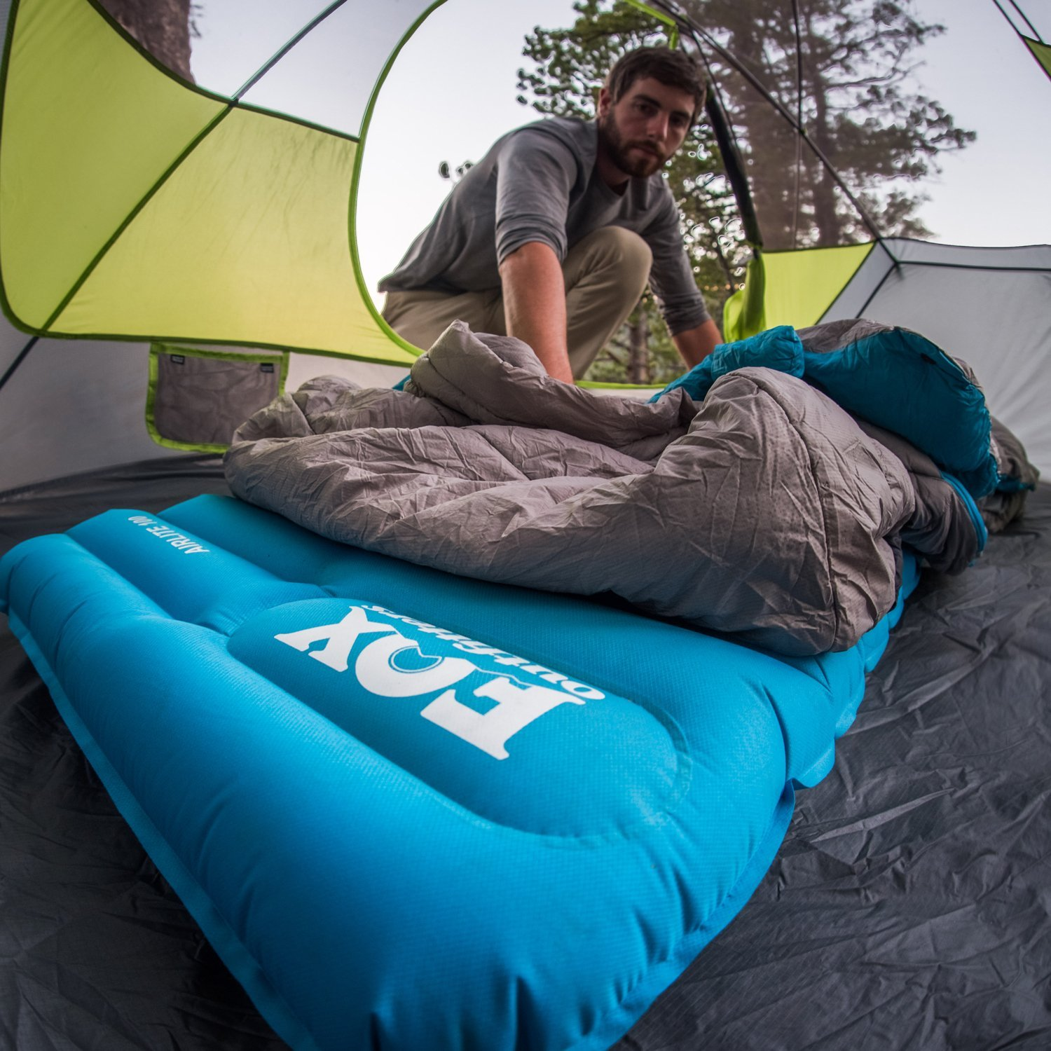 photo of a camping mat being used