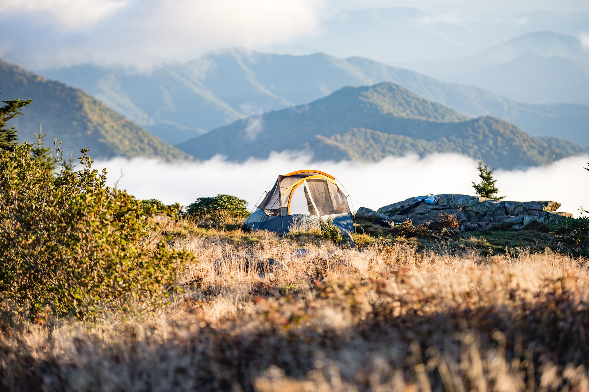 tent on a mountain