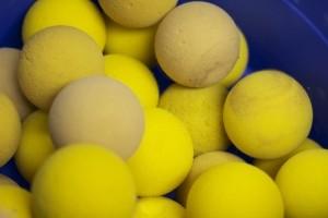 A pack of foam balls